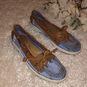Coach Richelle Striped Boat Shoes